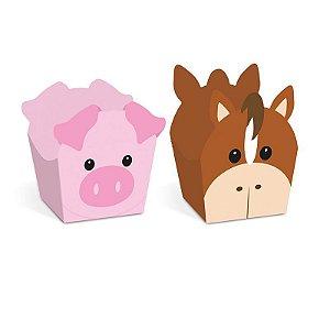 Forminha para Doces Tema fazendinha Cavalinho e Porco