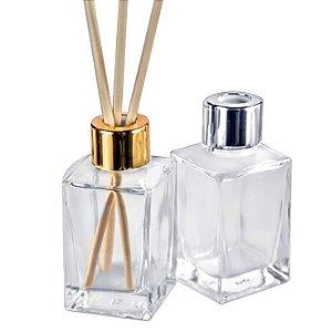 Frasco para Aromatizador de vidro 30 ml Tampa Luxo Kit com 10
