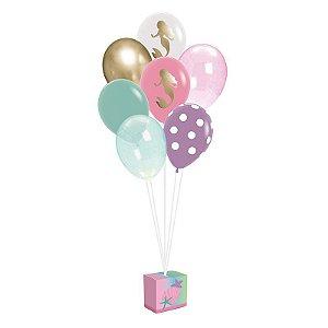 Kit de Balões para Decoração de Festa tema Sereia