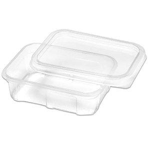Marmita Descartável Plástica 1000 ml com tampa pacote com 20 unid