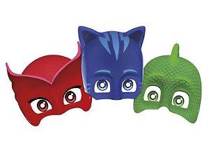 Mascaras de Festas de Aniversário PJ Masks kit com 6 unid