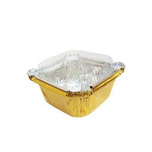 Micro Marmitinha para Personalizar Dourada kit com 12 unid