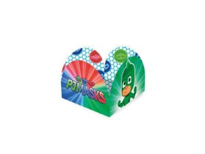 Porta Forma de Doces do PJ Masks kit com 50 unid
