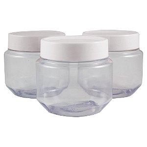 Pote de Papinha 250 ml de plástico PVC kit com 10 unid