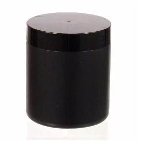 Pote Plástico Preto 500 ml Rosca Lacre kit com 10 unid