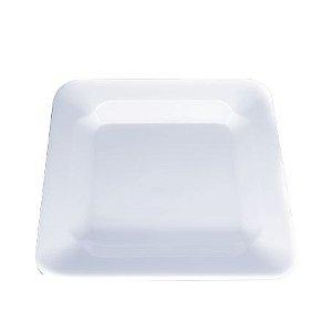 Prato Descartável Transparente 15 cm Quadrado pct com 10 unid