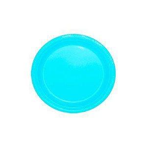 Pratos Descartáveis Resistente 18 cm Azul bebê com 10 unid