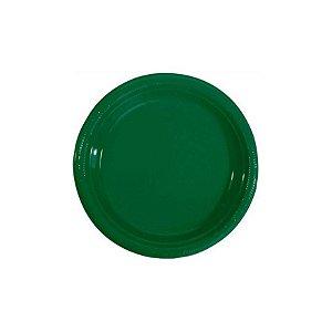 Pratos Descartáveis Simples 15 cm Verde com 10 unid