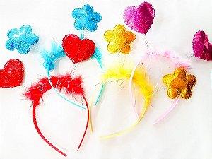 Tiara para Festa Flor e Coração Luxo