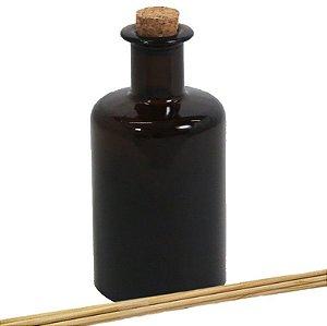 Vidro para Aromatizador âmbar Retrô 250 ml com rolha