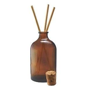 Vidro para Aromatizador Âmbar com Rolha 50 ml kit com 10 unid
