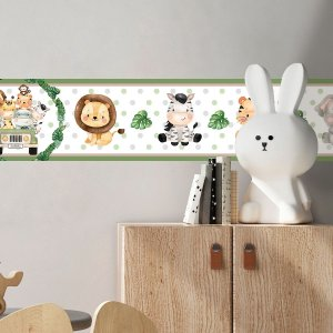 Faixa Decorativa Infantil Safari Cute