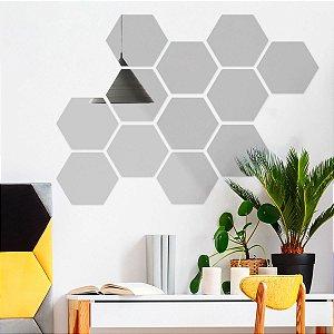 Espelho Decorativo Colmeia Hexagonal
