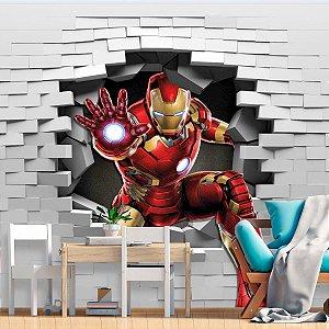Papel de Parede Personalizado Homem de Ferro