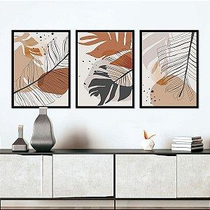 Kit Quadros Abstratos Tropical