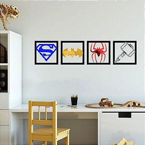Quadros Espelhados Heróis
