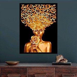Quadro Mulher Ouro