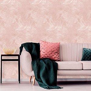 Papel de Parede Cimento Queimado Rosé