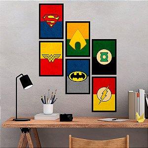 Kit de Placas Decorativas Super-Heróis DC
