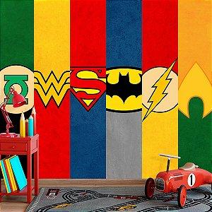 Papel de Parede Personalizado Super- Heróis DC