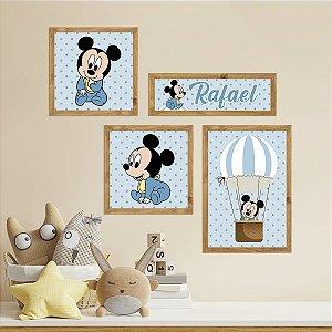 Kit Placas Decorativas Mickey Mouse