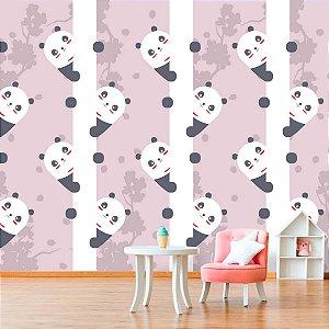 Papel de Parede Personalizado Panda Cute Rosa