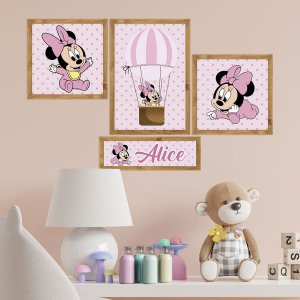 Kit de Placas Decorativas Minnie Mouse