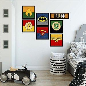 Kit Placas Decorativas Super- Heróis DC Personalizado