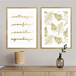 Kit Quadros Decorativos Espelhados Gratidão