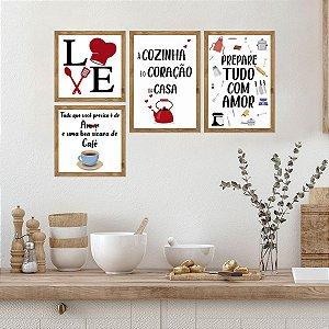 Kit Placas Decorativas Cozinha Love
