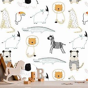 Papel de Parede Baby Safari Animado