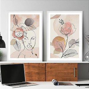 Kit Quadros Decorativos Mulher Empoderada Rosas