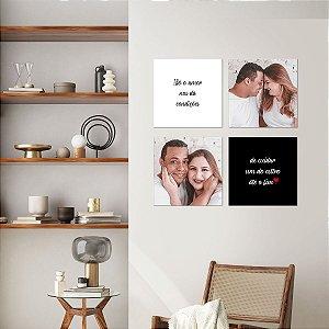 Kit Quadros Decorativos Amor Verdadeiro