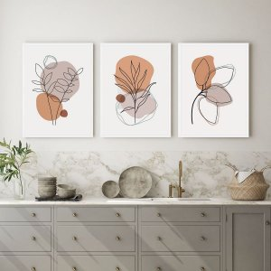 Kit Quadros Decorativos Flores Jardim