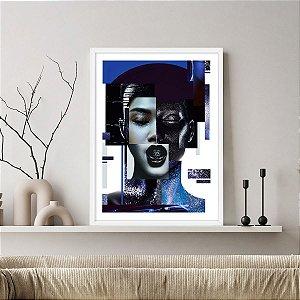Quadro Decorativo Mulher Azul