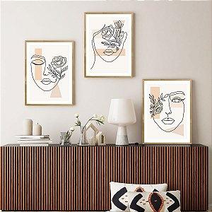 Quadro Decorativo Mulher Faces Abstratas