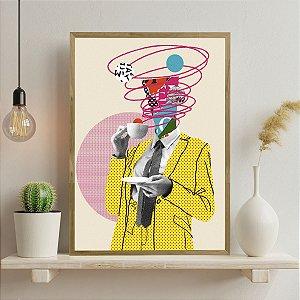 Quadro Decorativo Colors Men Coffee