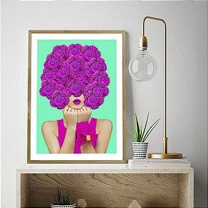 Quadro Decorativo Pop Art Rosas