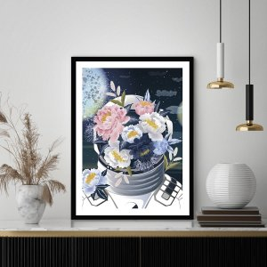 Quadro Decorativo Espaço Buquê de Flores