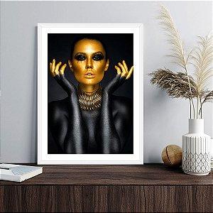 Quadro Decorativo Mulher Dourada Fayola