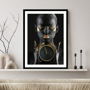 Quadro Decorativo Mulher Dourada Ouro