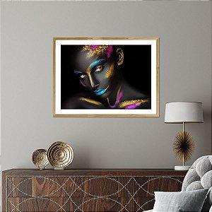 Quadro Decorativo Mulher Ouro Zuri