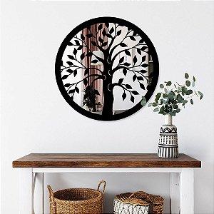 Quadro Decorativo Espelhado Árvore da Vida