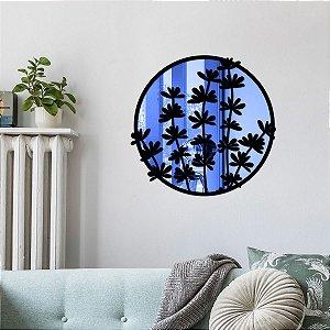 Quadro Decorativo Espelhado Folhas de Ramos