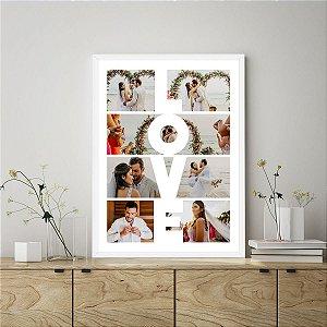 Quadro Decorativo Personalizado Love