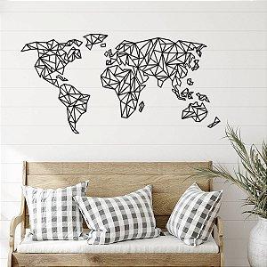 Quadro 3D Mapa Mundi