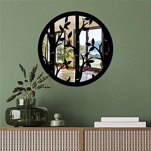 Quadro Decorativo Espelhado Folhagens