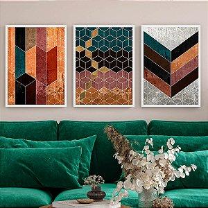 Kit Quadro Decorativo Geométricos Abstratos