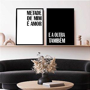 Kit Quadro Decorativo Metades