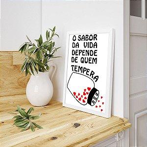 Placa Decorativa Tempeiro Caseiro